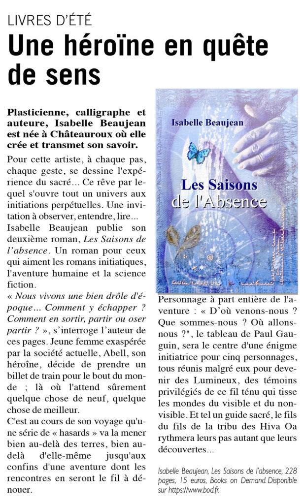 Article paru dans l'Echo La Marseillaise du 1er août 2019